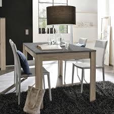 Esszimmer Tisch In Grau Marmor Optik Und Eiche Dekor Dinetto