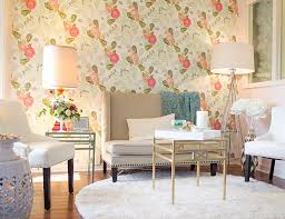 wallpapered office home design. Exellent Home Floral Wallpaper Office Intended Wallpapered Office Home Design M
