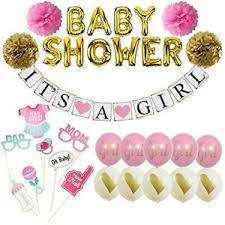 Details About Baby Shower Decorations For Girl It S A Girl Banner And Kit Pink And Gold