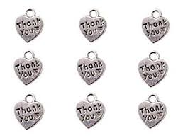 12x10mm tibetan silver thank you pendant alloy heart charms jewelry accessories findings making bracelet necklace earrings 10ps