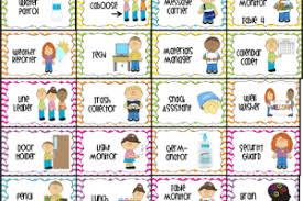 Clip Art For Preschool Job Chart Kindergarten Helpers Chart
