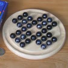 Wooden Solitaire Game With Marbles Analysis of Peg Solitaire 60
