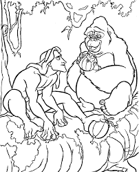 Tarzan And Kala Coloring Pages For