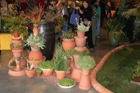 balcony gardens. Interesting Ways With Terra Cotta Pots Balcony Gardens