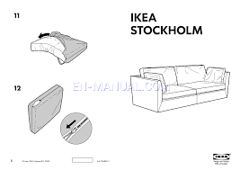 read assembly instruction for ikea stockholm sofa cover 3 5 seat page 1