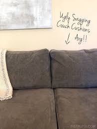 home tip how to easily fix sagging couch cushions in less than 5 minutes