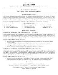 sample resume construction worker resume sle superintendent sles superintendent resume