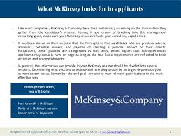 McKinsey Management Resume Consulting Resume Sample Sample; 2.
