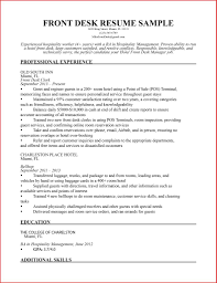 front desk hotel resume objective manager skills sample duties examples cal office templates ins impressive template