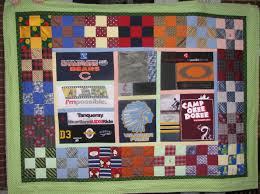Memorial quilt made from men's clothing, including t shirts ... & Memorial quilt made from men's clothing, including t shirts, biking shorts  and shirts, Adamdwight.com