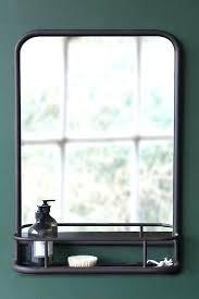 vintage style wall mirror dark brown mirror with deep shelf portrait antique style wall mirrors
