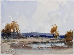 Wesson, Edward - 'A River Landscape' - Rose Gallery