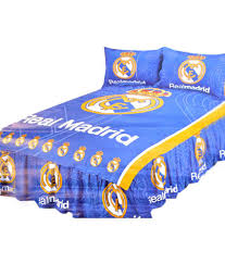 m s merchant e real madrid single bedsheet with pillo