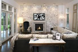 modern living room with brick fireplace. Whitewashed Fireplace Brick Chic Living Room Design With White And Gray Washed Accent Wall Whitewash What Kind Of Paint Modern