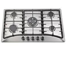 China Cheap Price 5 Burner 201 Stainless Steel Cooktop Gas Stove