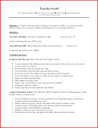 Childcare Resume Child Care Teacher Assistant Sample Resume shalomhouseus 54