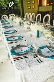 Turquoise And White Wedding Decorations Aisle Chair Decor Weddings Costa Rica