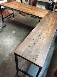 wooden desk ideas. l shaped desk reclaimed wood industrial modern by guicewoodworks on etsy https wooden ideas e