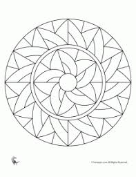 Simple Mandala Coloring Pages For Kids Free Patterns Tangles
