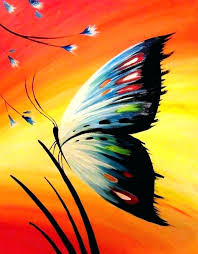 easy patterns to paint on canvas paint night ideas easy erfly paintings acrylic sunset canvas painting