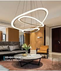modern art round commercial ring white