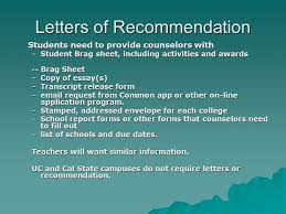 do csu need letter recommendation venice high school quick guide for seniors ppt video online download