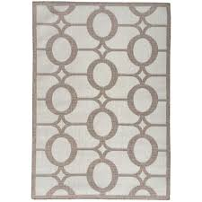 berrnour home summer collection circles design natural beige 5 ft x 7 ft indoor