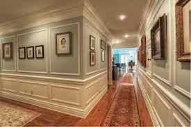 moldings designs hallway crown molding