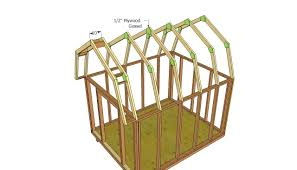 12×16 Tall Barn Style Gambrel Roof Shed PlansGambrel Roof Plans