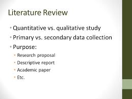 What Is The Primary Role Of Literature Review In A Quantitative