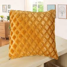 cushions comfy faux fur square throw