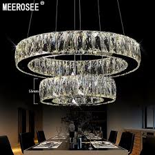 hot 1 ring 2 ring 3rings led k9 crystal chandelier light lamp res de cristal