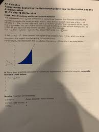 Solved Ap Calculus Assignment Exploring The Relationship