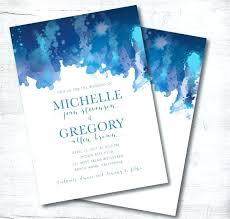 Beach Wedding Invitation Printable Destination Blue Template Free