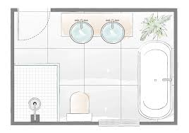 bath and shower layout