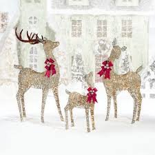 indoor outdoor reindeer family set of three with 656 led lights