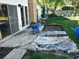 removing concrete patio ptio
