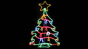 ... Wellsuited Led Christmas Decorations Alluring Rope Light Silhouettes LED  Tree With 1 2 ...