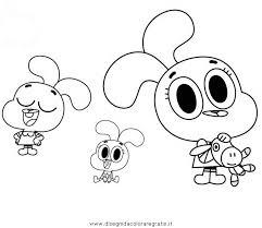 Disegno Gumball01 Personaggio Cartone Animato Da Colorare