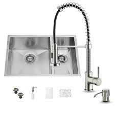 all in one undermount stainless steel 29 in 0 hole double basin
