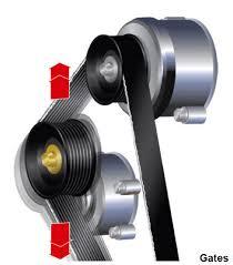 belt tensioner. serpentine belt squeal, chirp, tensioner