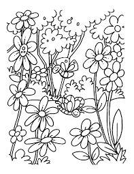Small Picture A blooming field of flowers coloring pages Download Free A