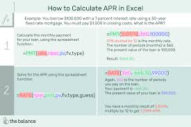 Calculate A Mortgage Loan How To Calculate Annual Percentage Rate Apr