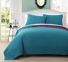 3 Piece King Project Runway Teal/Plum Quilt Set | Palm Springs ... & 3 Piece King Project Runway Teal/Plum Quilt Set Adamdwight.com