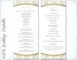 Free Printable Wedding Ceremony Programs Martha Stewart Wedding Templates Programs