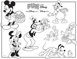 Printable coloring pages of mickey and minnie mouse and pluto. Disney Dooney And Bourke Free Printable Disney Easter Egg Hunt Coloring Page Disney Dooney Bourke Guide