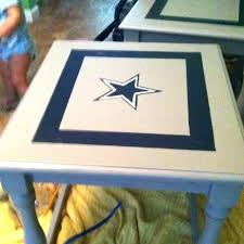 dallas cowboys table cowboys table old living room end table sanded down with electric sander painted dallas cowboys table