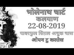 Repeat 22 08 2019 Kalyan Free Bholenath Chart Kala Khajana