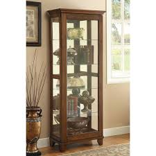 Glass Curio Cabinets With Lights Coaster Furniture 950188 5 Shelf Curio Cabinet In Warm Brown With