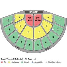 Greek Theater Berkeley Seating Chart The William Randolph